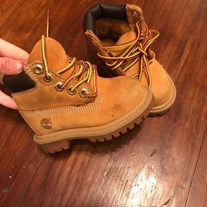Baby size 4 Timberlands